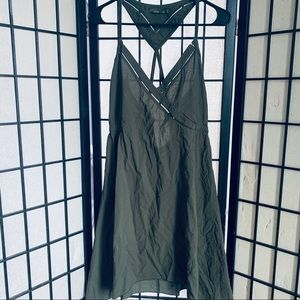 Prana darya olive green sleeveless dress sz M